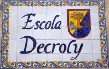 Placa escola Decroly